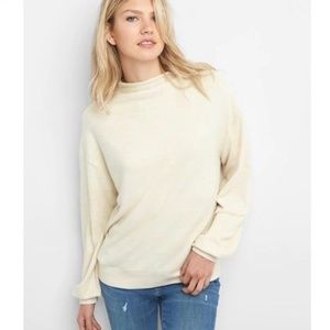 GAP | Softspun Funnel-Neck Top in Off White Oyster